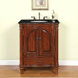 "30"" 0266BG - Single Sink Bathroom Vanity Cabinet Black Galax"