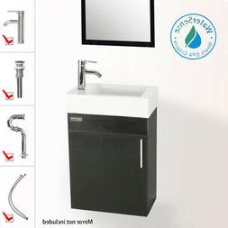 eclife 18.4'' Bathroom Vanity Combo, Modern Design Wall