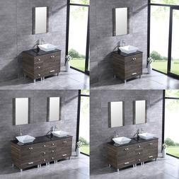 "24""/36""/60""72"" Bathroom Vanity Wood Cabinet Ceramic Porcelai"