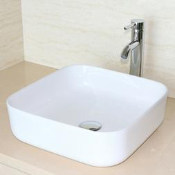 24''/36'' White Modern Bathroom Vanity Cabinet Vessel Sink w