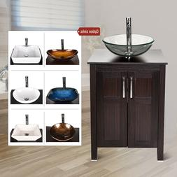 24 bathroom vanity cabinet storage sink ceramic