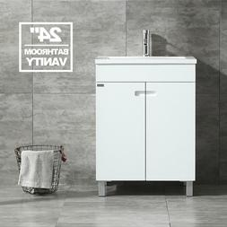 "24"" Bathroom Vanity Cabinet Storage Under Mount Single Vesse"