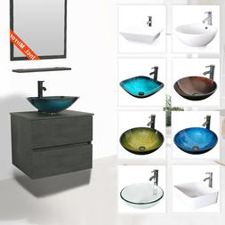 "24"" Bathroom Vanity Sink Combo Wall Mounted Cabinet Two Draw"