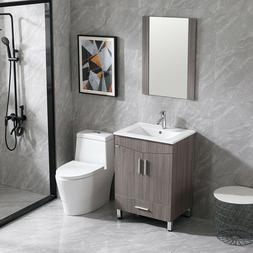 24 inch Bathroom Vanity Cabinet Base Shaker Style with Sink