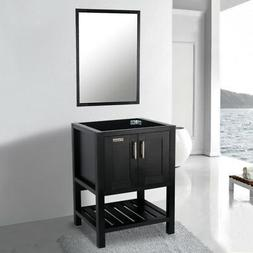 24 inch Modern Bathroom Vanity Cabinet Only W/ Mirror Wood S