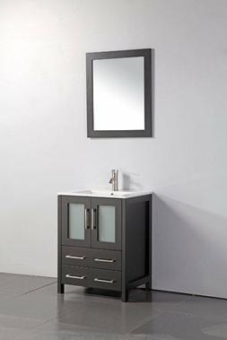 Vanity Art 24-Inch Single-Sink Bathroom Vanity Set With Cera