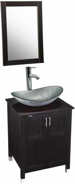 """24"""" Modern MDF Bathroom Vanity and Sink Combo Stand Cabinet"""