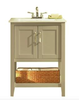 24 Single Bathroom Vanity Set, Gray