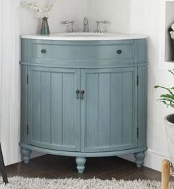 "24"" Benton Collection Thomasville Slim Corner Bathroom Sin"