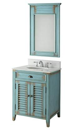 "26"" Cottage look Abbeville Bathroom Sink Vanity with Mirro"