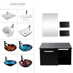 "28"" Vanity Cabinet Bathroom Single Top Vessel Sink Bowl Fauc"