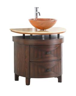 "32"" Benton Collection Verdana Colonial Wood Vessel Sink Bath"