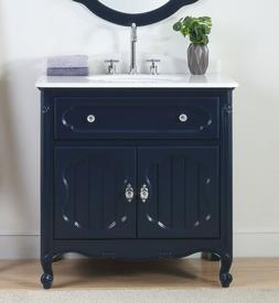 34 knoxville navy blue bathroom sink vanity