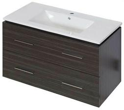 35.5 in. Wall Mount Vanity in Dawn Gray Finish