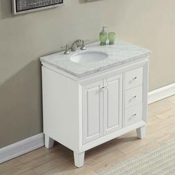 36 bathroom vanity right single sink cabinet