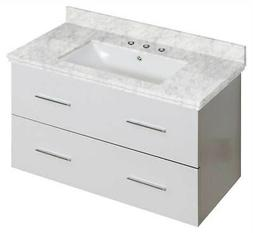 36 in. Wall Mount Bathroom Vanity