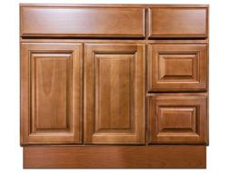 36 inch vanity cabinet with left drawers