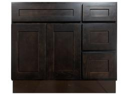 Kingway 36-inch Vanity Cabinet with Left Drawers Expresso Bi