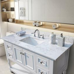 "43""x22"" Bathroom Vanity Top Engineered Stone Marble Color wi"