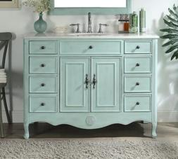 """46.5"""" Benton Collection Distressed Light Blue Fayetteville B"""