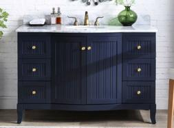 "49"" Benton Collection Algar Navy Blue Contemporary Bathroom"