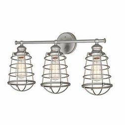 Design House 519728 Ajax 3 Light Vanity Light, Galvanized St