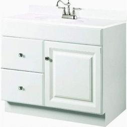 Design House 545061 Wyndham White Semi-Gloss Vanity Cabinet
