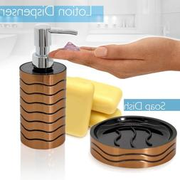 SereneLife 6 Piece Bathroom  Sink Accessory Set - Bronze Fin