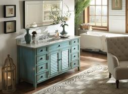 "60"" Bathroom Cabinets Vanity Sink Unit Rustic Decor Abbevill"