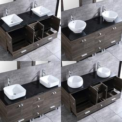 "60"" Bathroom PLY Vanity Cabinet Optional Double Ceramic Sink"