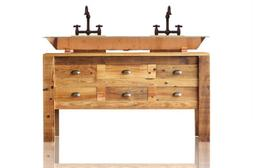 60 reclaimed wood apothecary chest bath vanity