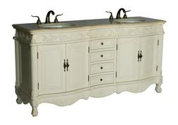 68 inch antique style double sink bathroom