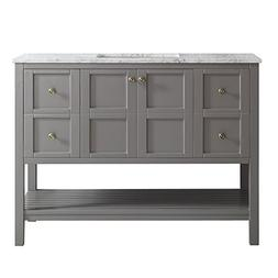 "Vinnova 713048-GR-CA-NM Florence 48"" Single Vanity in Grey w"