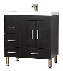 "Alya Bath At-8050-B 30"" Single Bathroom Vanity with Mirror i"