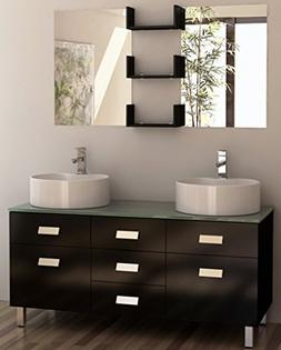 Design Element Wellington Double Sink Vanity Set, 55-Inch