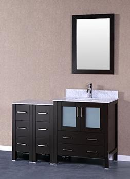 "Bosconi A130CMU2S 54"" Free Standing Vanity Set with Wood Cab"