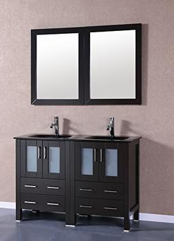 "Bosconi A224BGU 48"" Free Standing Vanity Set with Wood Cabin"
