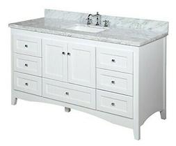 "Kitchen Bath Collection Abbey 60"" Single Bathroom Vanity Set"