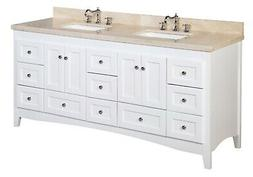 "Kitchen Bath Collection Abbey 72"" Double Bathroom Vanity Set"