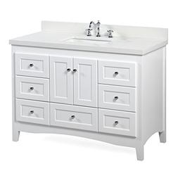Abbey 48-inch White Bathroom Vanity : Includes a White Cabin