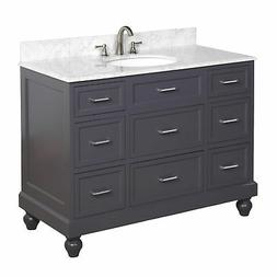 "Kitchen Bath Collection Amelia 48"" Single Bathroom Vanity Se"