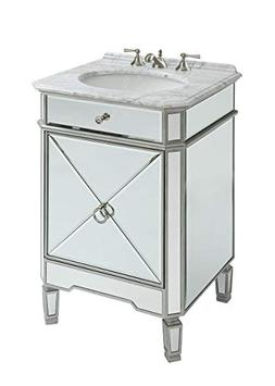 "32""   Antique White Versailles Bathroom Sink Vanity Cabinet"