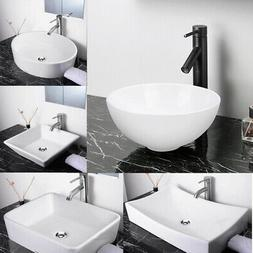 Bathroom Vessel Sink Porcelain Ceramic Vanity Home Hotel Was