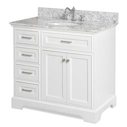Aria 36-inch Bathroom Vanity : Includes a White Cabinet with