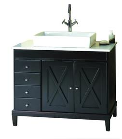 Ove Decors Aspen VB Vanity with Marble Countertop and Rectan