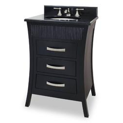 Jeffrey Alexander Barcelona Modern Bathroom Vanity, Black