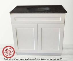 "Bathroom Vanity Cabinet White Shaker Single Sink 24"" W x 21"""