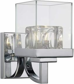Bathroom vanity light fixture One Light-Bath with Polished C