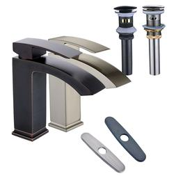 Bathroom Vanity Sink Faucet Basin Waterfall Deck Mount Mixer