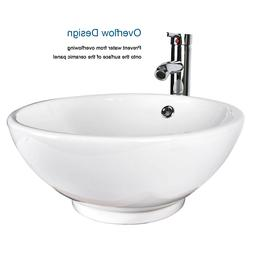 Bathroom Vessel Sink Drain Ceramic Faucet Basin Vanity Porce